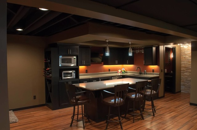 Schubbe Basement remodel - Traditional - Basement ...