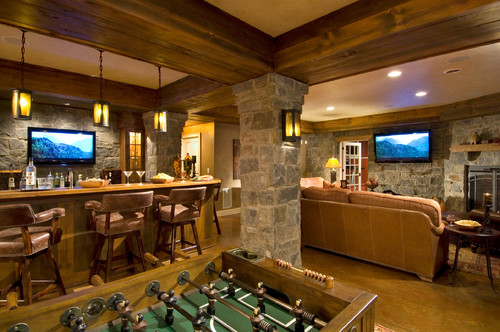 Creating a bar or pub atmosphere at home for Creating a home bar