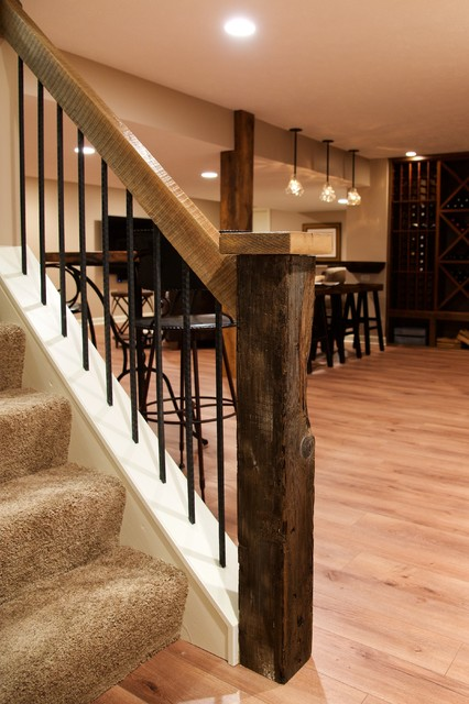 Slabaugh remodeling best basement ever contemporary rustic for Rustic finished basement