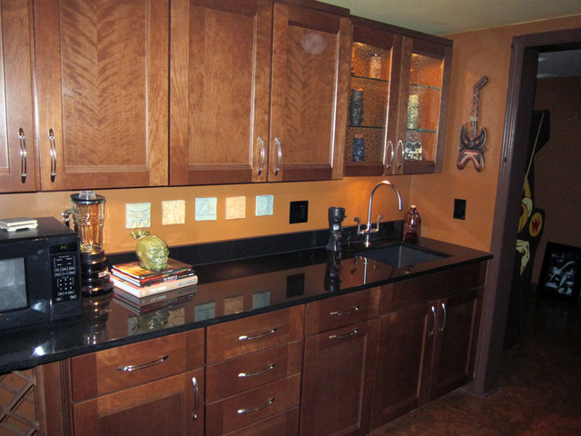 Solana Maple With Auburn Glaze By Shenandoah Cabinetry  Eclectic