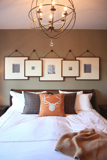 bedroom artwork. Traditional Basement by Bria Hammel Interiors 8 Ways to Arrange Artwork
