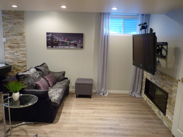 sous sol salle de jeu ado et adulte contemporary basement other by charma design. Black Bedroom Furniture Sets. Home Design Ideas