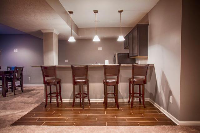 South Avalon Basement traditional-basement