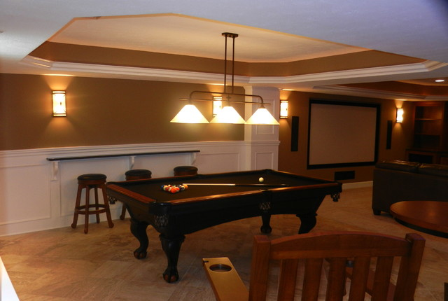 South Russell Finished Basement traditional-basement