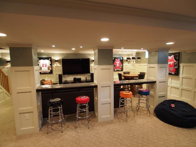 sports basement transitional basement new york by