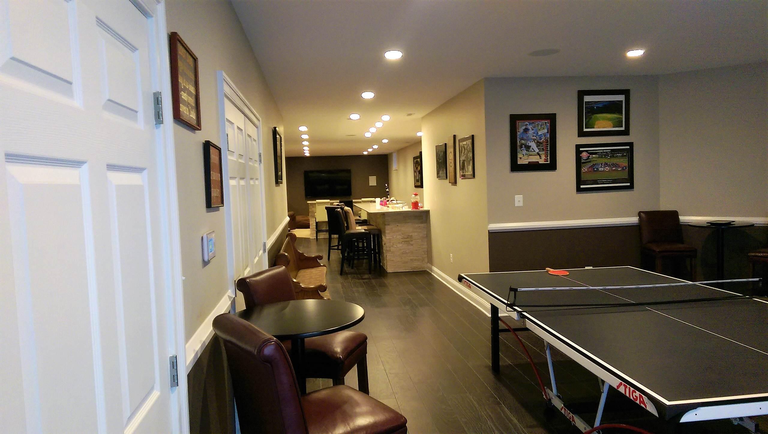 Sports Themed Basement Remodel Olney MD