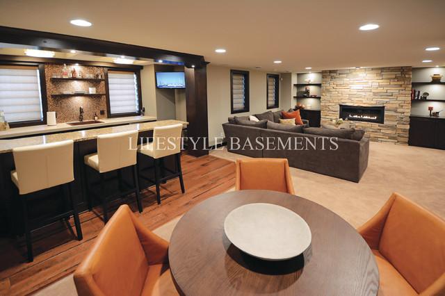 Spring Creek contemporary-basement