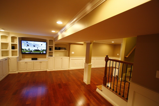 Springside Court - Basement traditional-basement