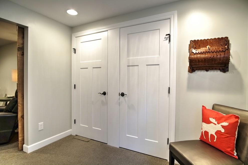 Basement - country basement idea in Minneapolis