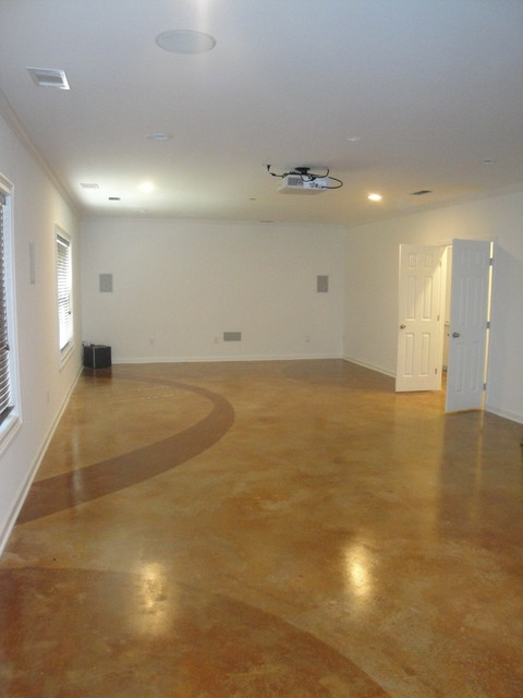 stained concrete basement floors traditional basement