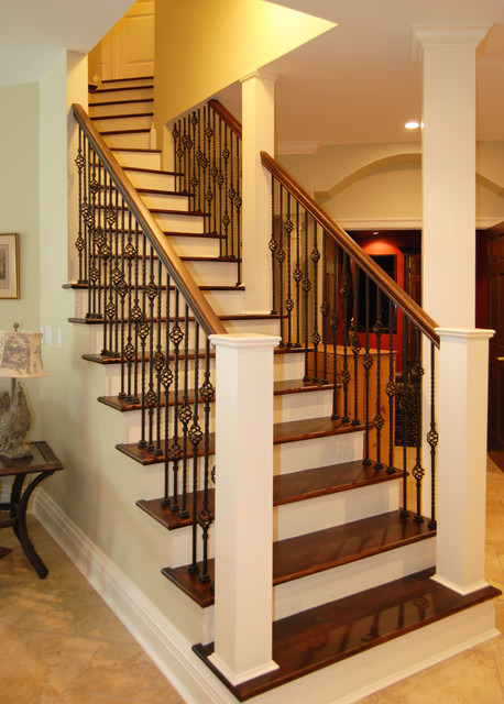 Basement Stairs Design: Traditional