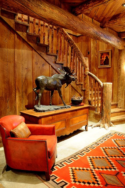 Staircase Rustic Basement Other Metro By Peace Design