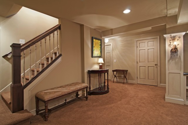 Basement Stair Landing Decorating: Minneapolis