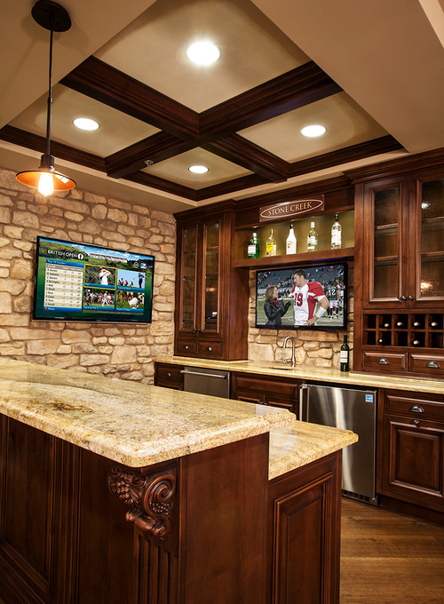 the look of your kitchen or bar area this luxurious custom home bar
