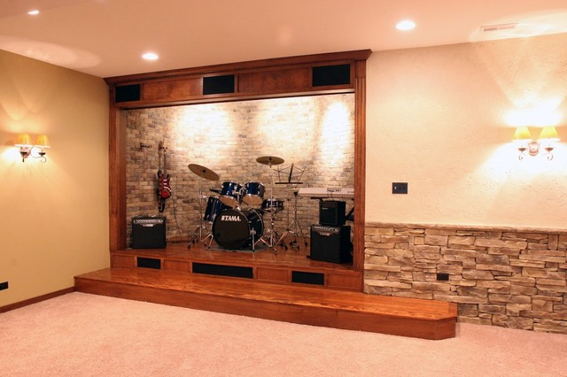 Stone Wine Cellars eclectic basement