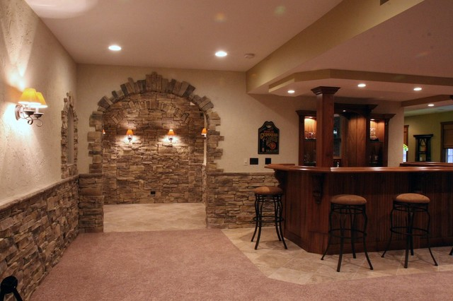 Stone Wine Cellars Traditional Basement Chicago By