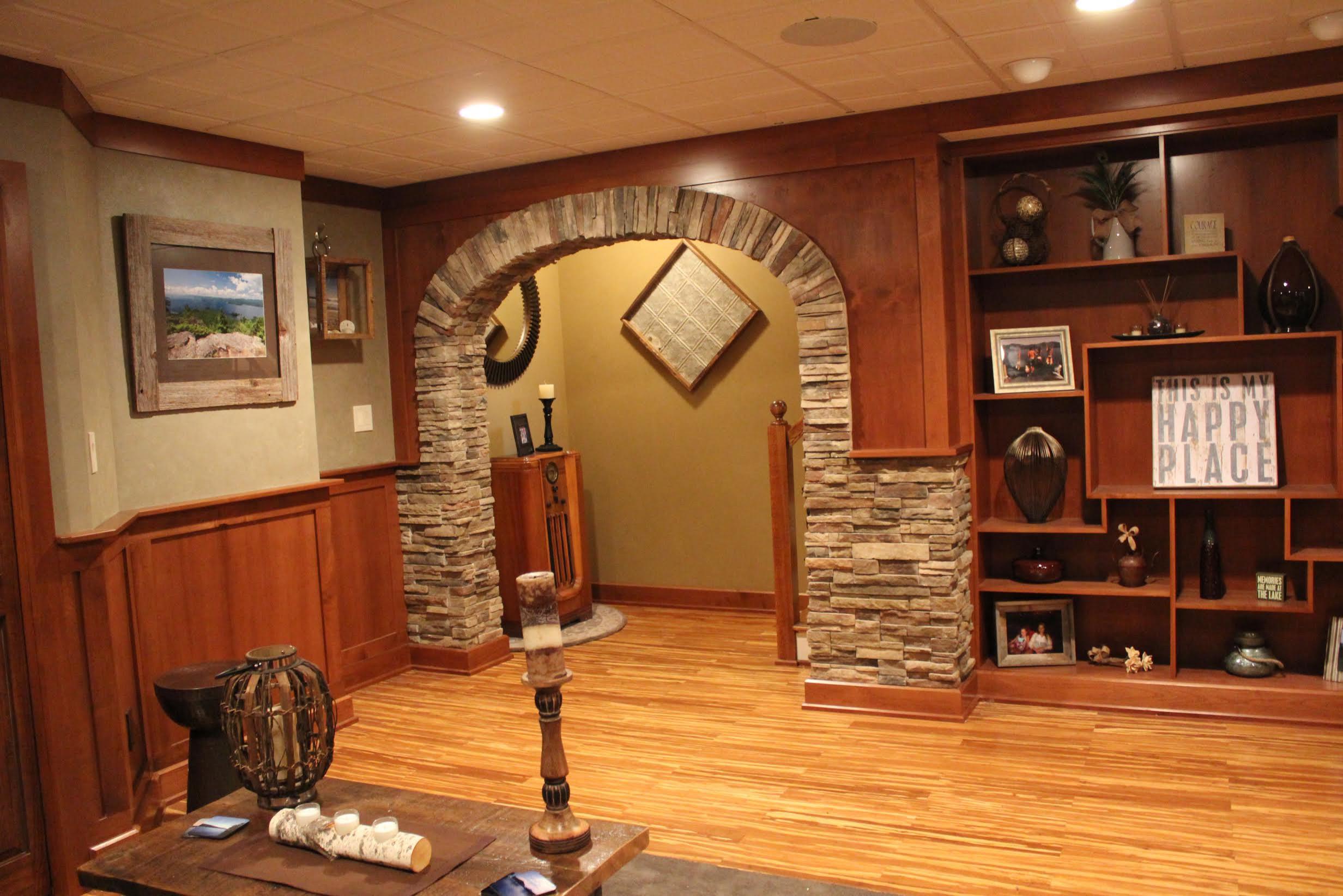 Stunning Craftsman Basement Remodel