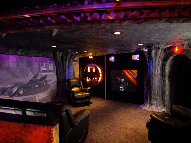 superhero-themed basement - contemporary - basement - milwaukee