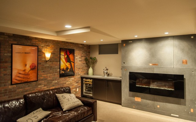 Basement Ideas Man Cave : The Ultlimate Man Cave - Contemporary - Basement - boston - by Todays ...