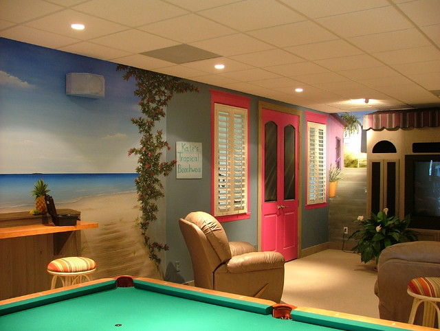 Theme Basements - Basement - other metro - by Beth Covert Studio of Painted Design