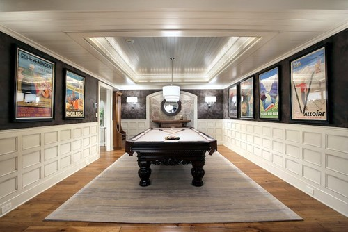 basement pool table. Red Contemporary Basement Pool Table L