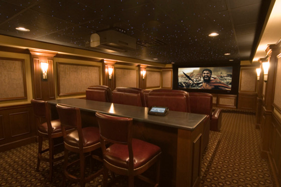 Tiered Seating Home Theaters Traditional Basement