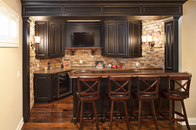 New construction traditional basement cincinnati for Wet bar construction plans