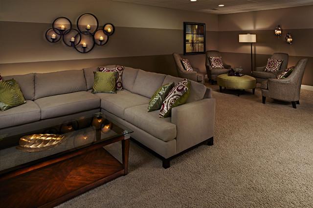 The Legacy of Farmington Hills traditional-basement