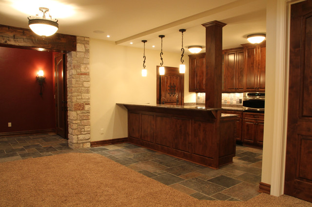 Lower Level Wet Bar traditional-basement