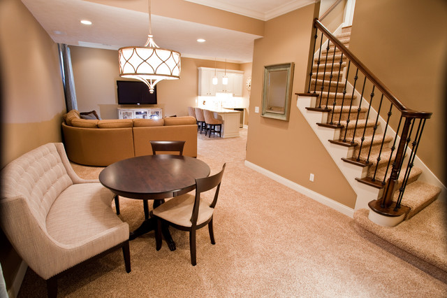Basement Remodeling Indianapolis traditional basement retreat - traditional - basement