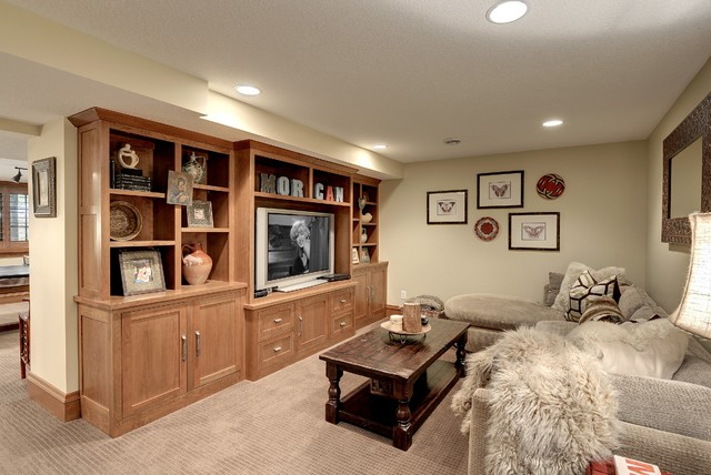 tudor revival craftsman basement minneapolis by