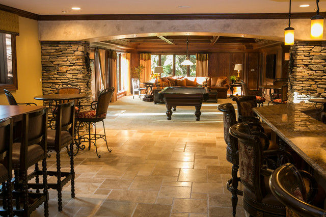 Tuscan Style Traditional Basement Detroit By
