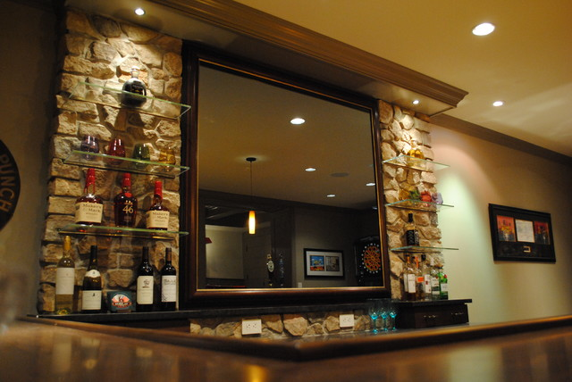 Ultimate Bar Mirror Contemporary Basement