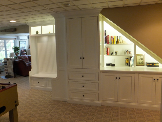 Ex&le of a classic basement design in Manchester & Under Stairs Cabinet - Traditional - Basement - Manchester - by ...