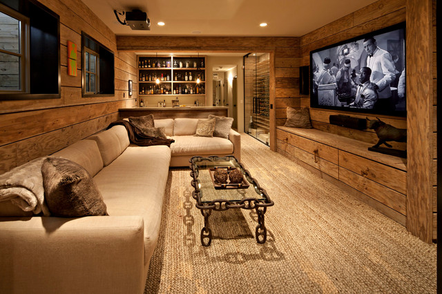 Unexpectedly urban rustic basement calgary by for Rustic finished basement
