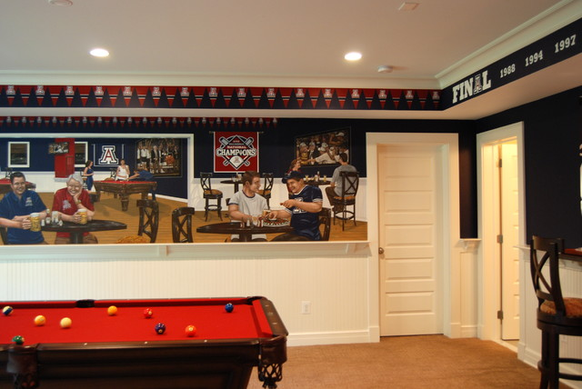 University of arizona sports bar themed mural by tom for Basements in arizona