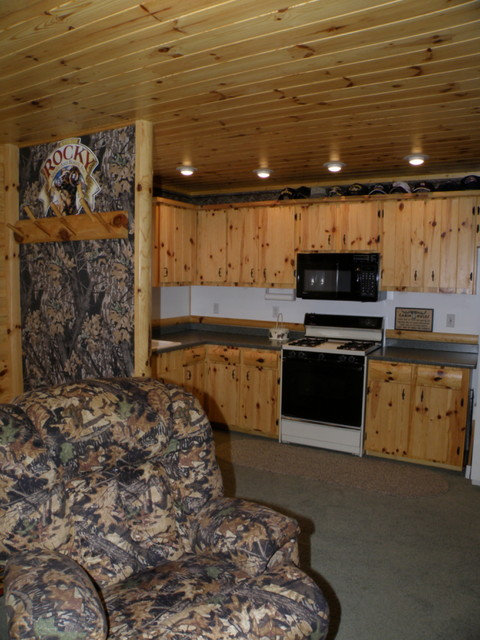 Upper And Lower Cabinets In Knotty Pine Rustic