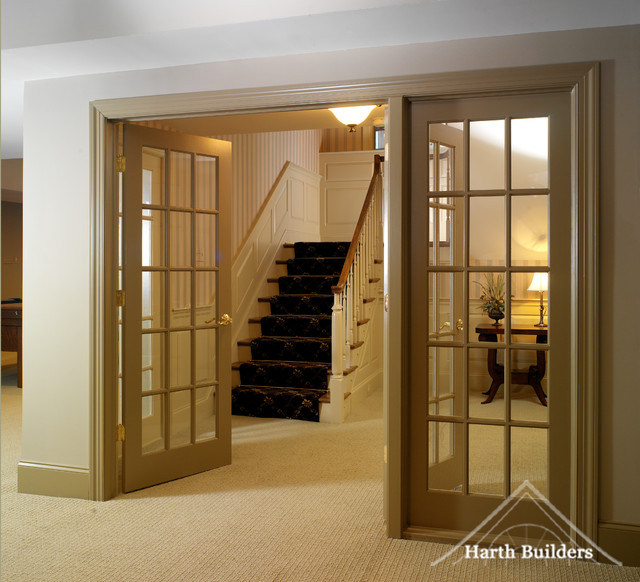 Upstairs access basement philadelphia by harth builders for Basement access from garage