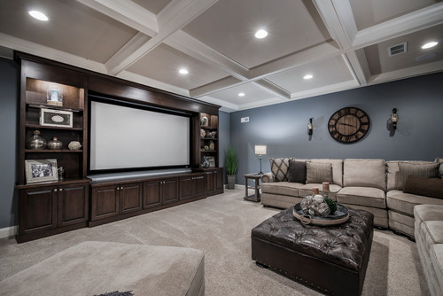 Entertainment center design for watching football and entertaining.