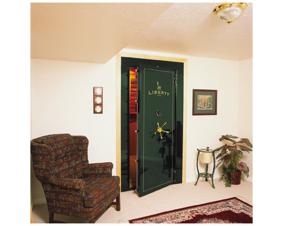 Gun safe home design ideas pictures remodel and decor for Vault room construction