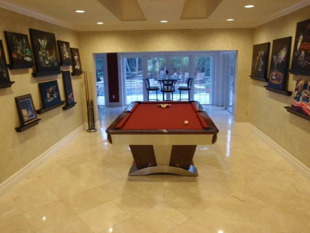 Vegas pool table by mitchell exclusive billiard designs for Pool table room design