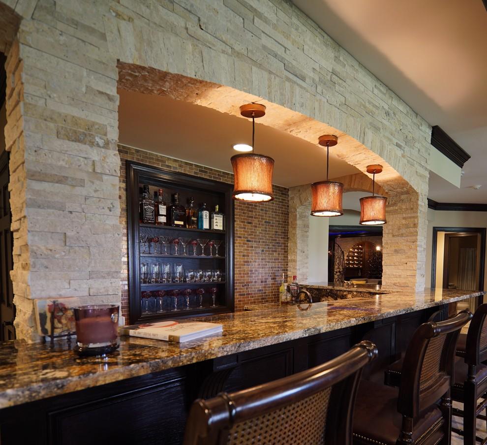 Rustic Finished Basement Ideas: Vienna Basement/Wine Room Remodel