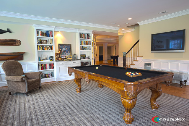 virginia house traditional basement dc metro by casaplex llc