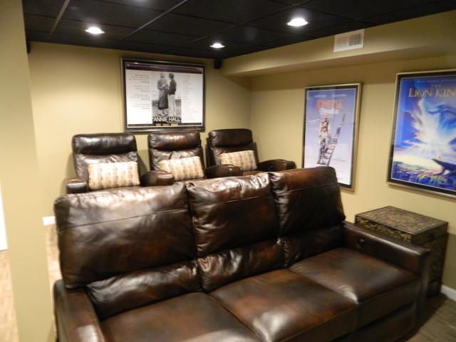 Voorhees Basement traditional-basement