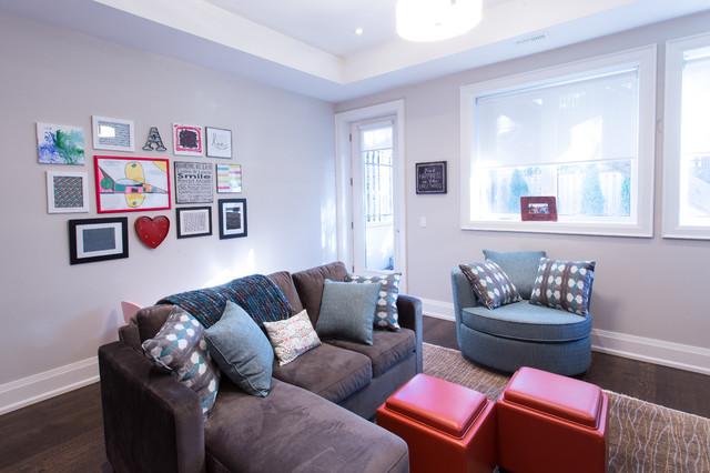 basement transitional family room - photo #30