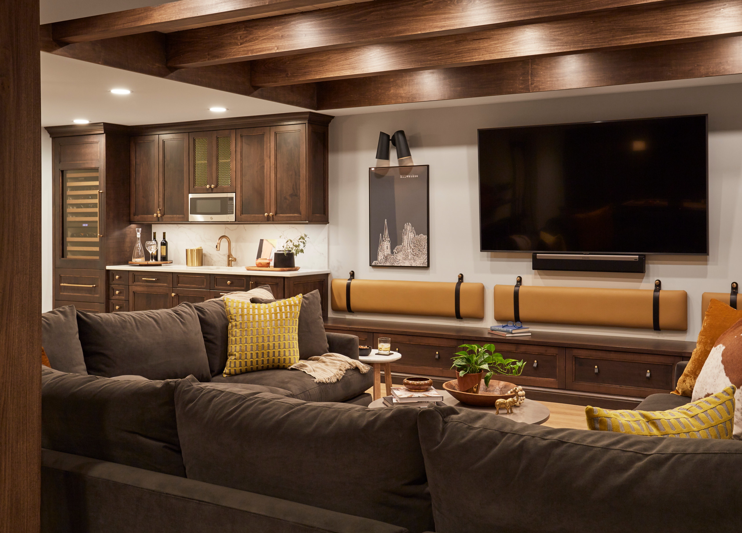 Image of: 75 Beautiful Exposed Beam Basement Pictures Ideas November 2020 Houzz