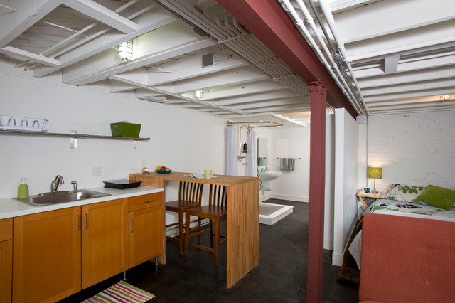 remodel industrial basement dc metro by four brothers llc