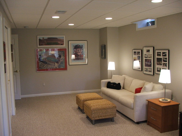 Basement remodeling ideas finished basement photos - Basement ideas for small spaces pict ...