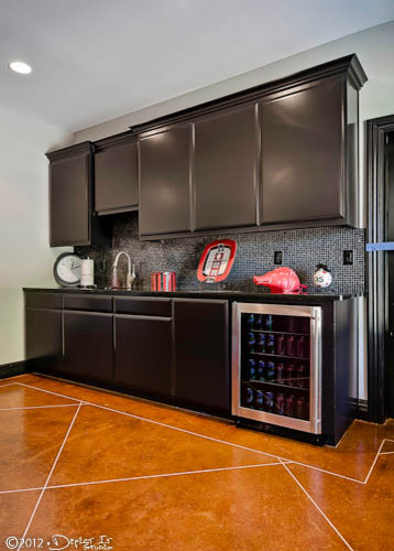 Modern Basement Wet Bar. Wet bar in game room  fayetteville arkansas modern basement