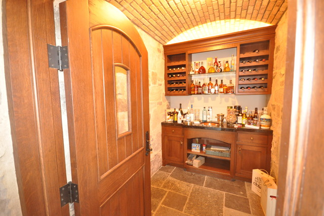 Whiskey Cellar Traditional Basement Other Metro By
